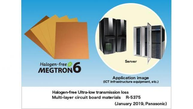 Panasonic Commercializes Halogen-free Multi-layer Circuit Board Material (Halogen-free MEGTRON6) for Communications Infrastructure Equipment