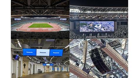 Panasonic Delivers Large Screen Displays, Audio Systems and Various Stadium Equipment to the National Stadium
