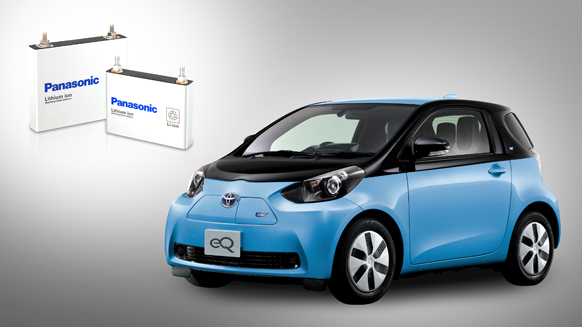 Panasonic to Supply Lithiumion Batteries for Toyota Motors eQ