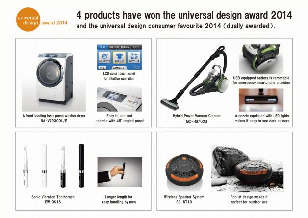 Panasonic Takes Home Four Universal Design 2014 Awards And