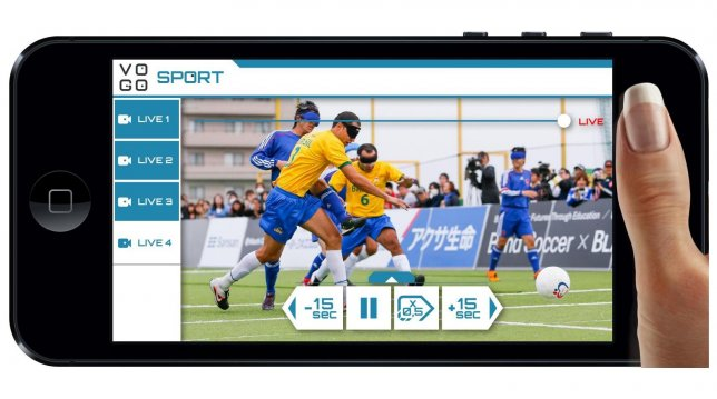 Panasonic Demonstrated Spectator Solutions with VOGO Sport for Disabled Sports at Japan-Brazil Blind Football Match