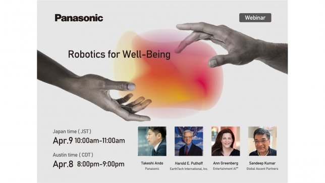Robotics for Well-Being: Panasonic to Host a Virtual Panel Session