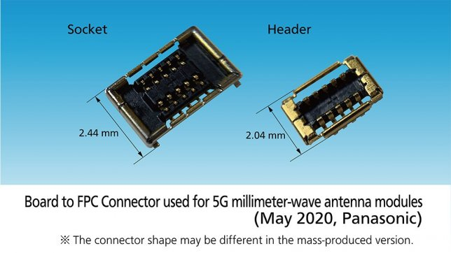 Panasonic Starts Sample Shipments of a Board to FPC Connector for 5G Millimeter-wave Antenna Modules