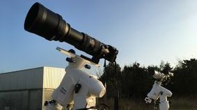 GH4 attached with telescope