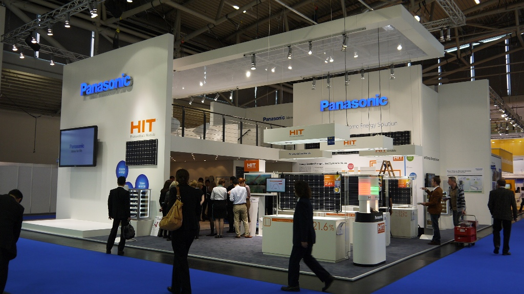 Exhibition Booth Design Japan : Panasonic displays its energy solutions for europe at