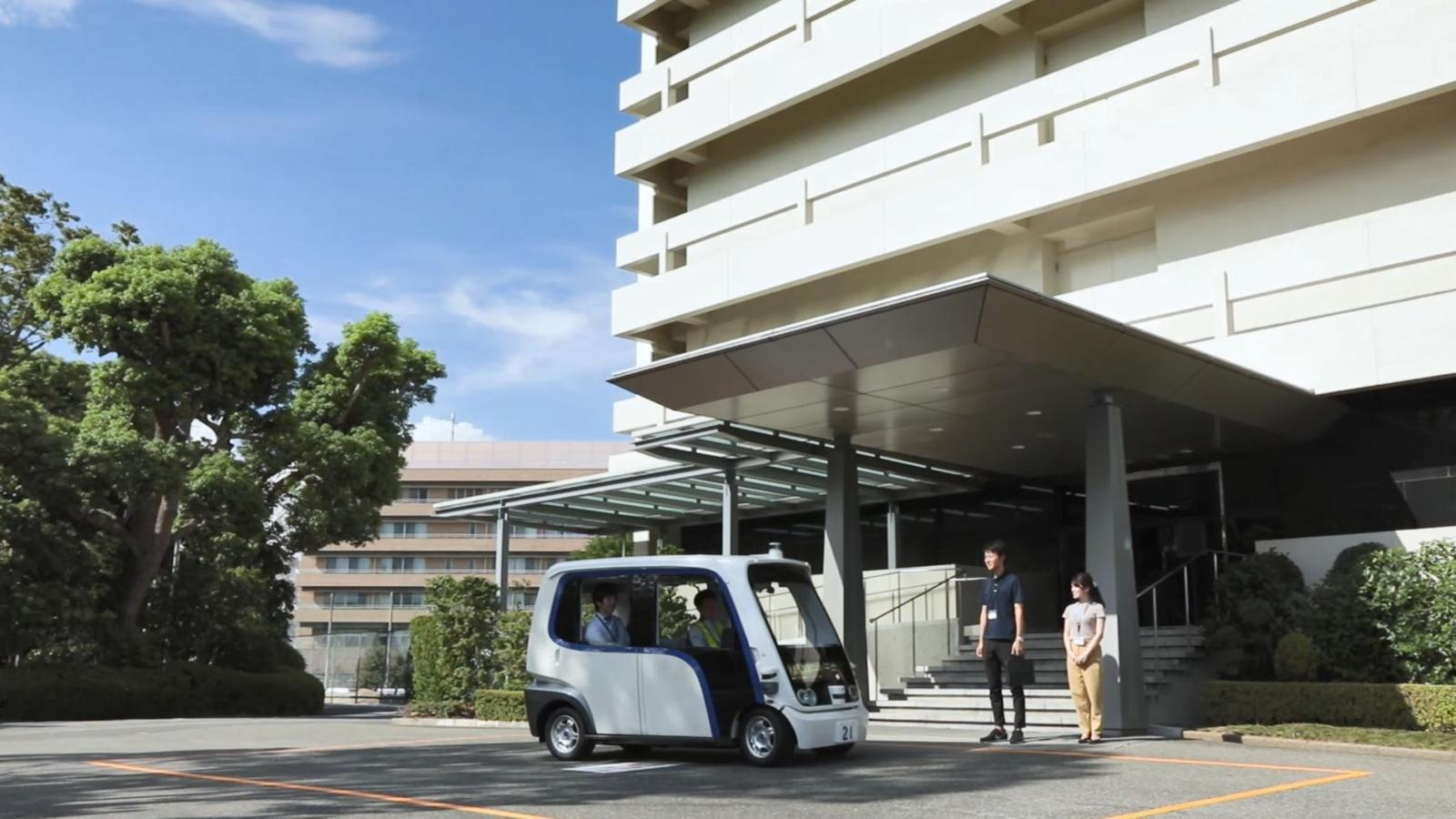Photo: Panasonic launched autonomous ride share service around its headquarters.