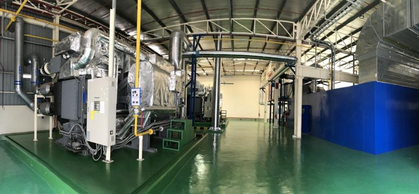 Power generator and air conditioning system at PAPAMY's plant