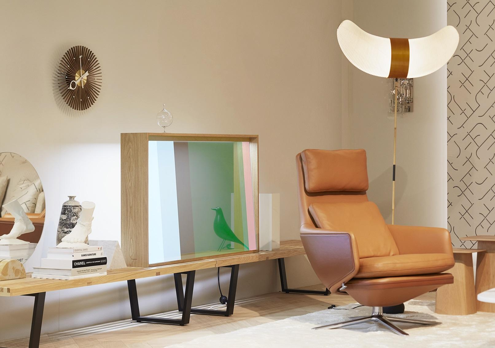photo: Panasonic's transparent OLED concept display unveiled at the Vitra booth at Salone del Mobile