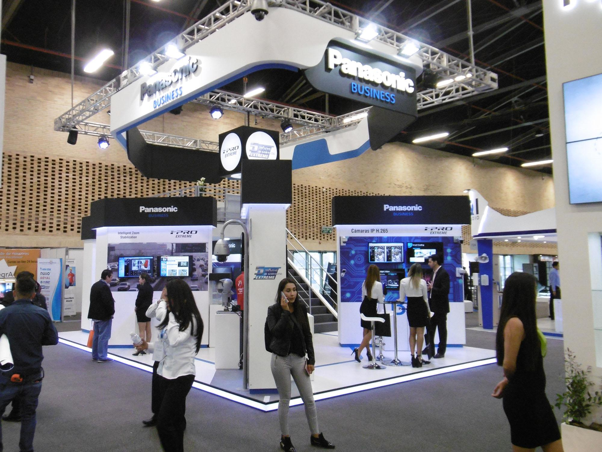 Photo: Panasonic booth at Security Fair in Colombia