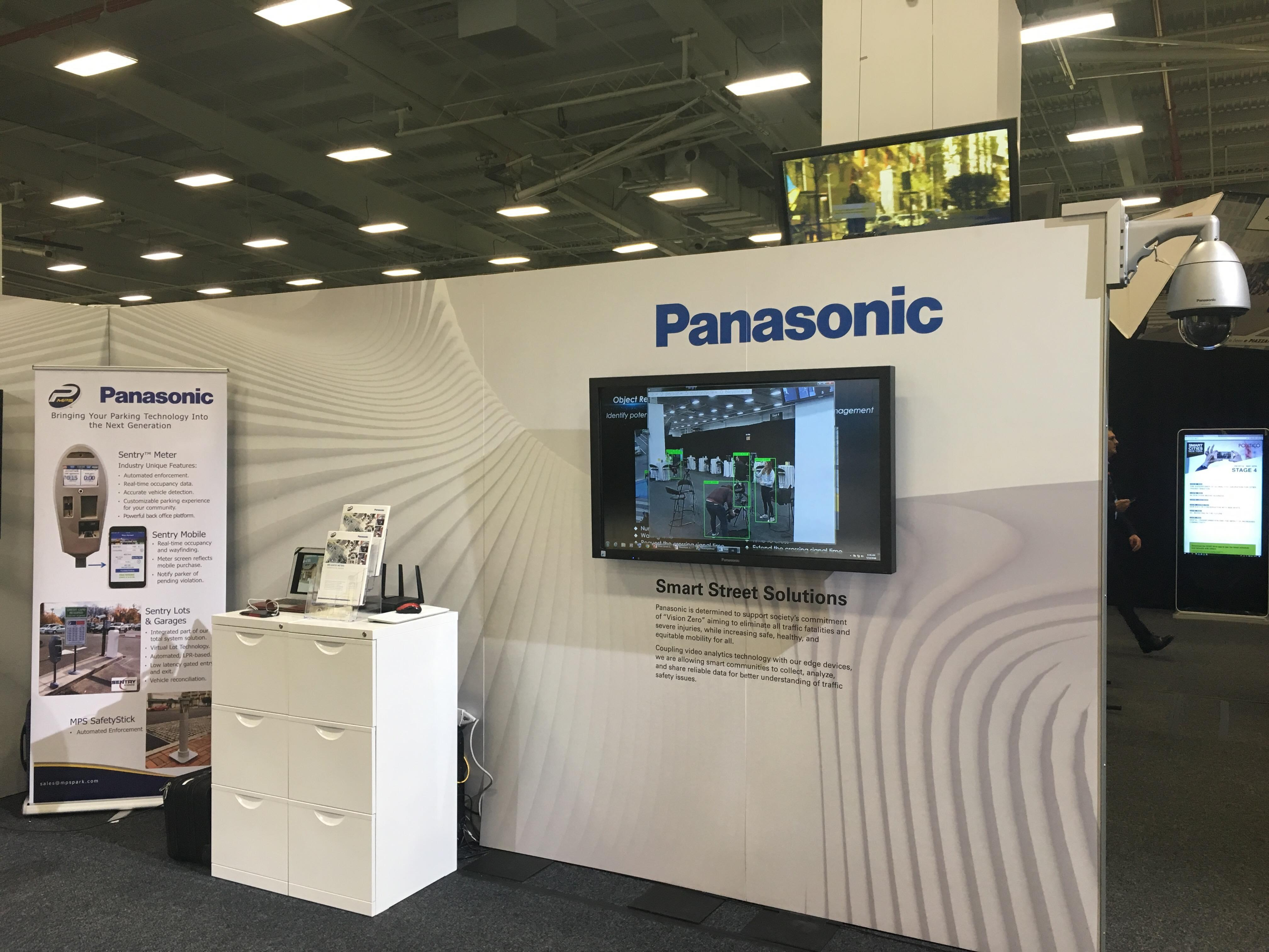 photo: Panasonic booth at Smart Cities New York of 2018