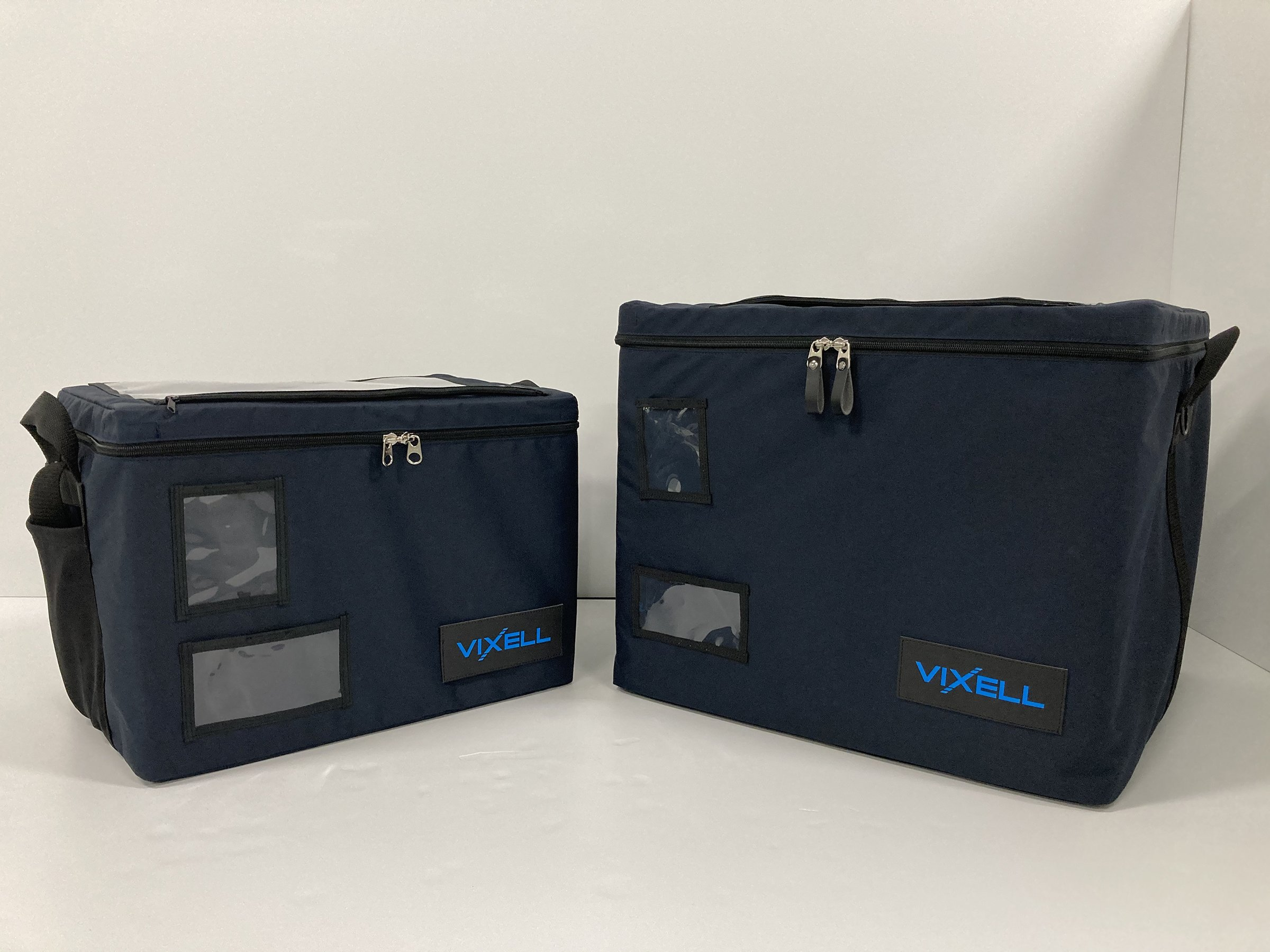 Photo: VIXELL™ vacuum-insulated box (Left: 57 liter-type; right: 120 liter-type)