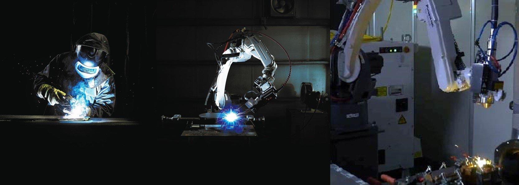 Photo: Panasonic's main welding machines, welding robots and laser welding products