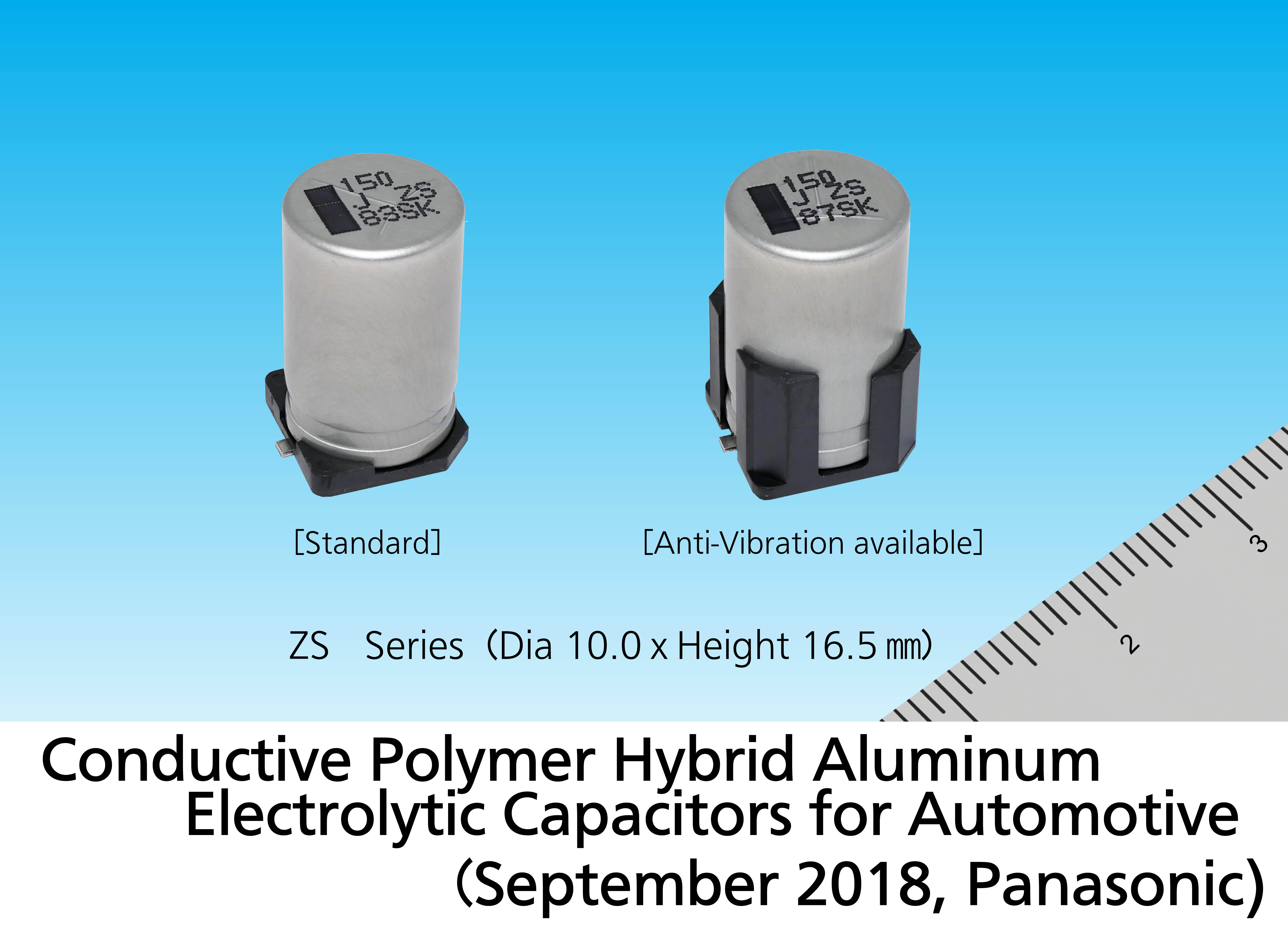 Image: ZS Series Conductive Polymer Hybrid Aluminum Electrolytic Capacitors