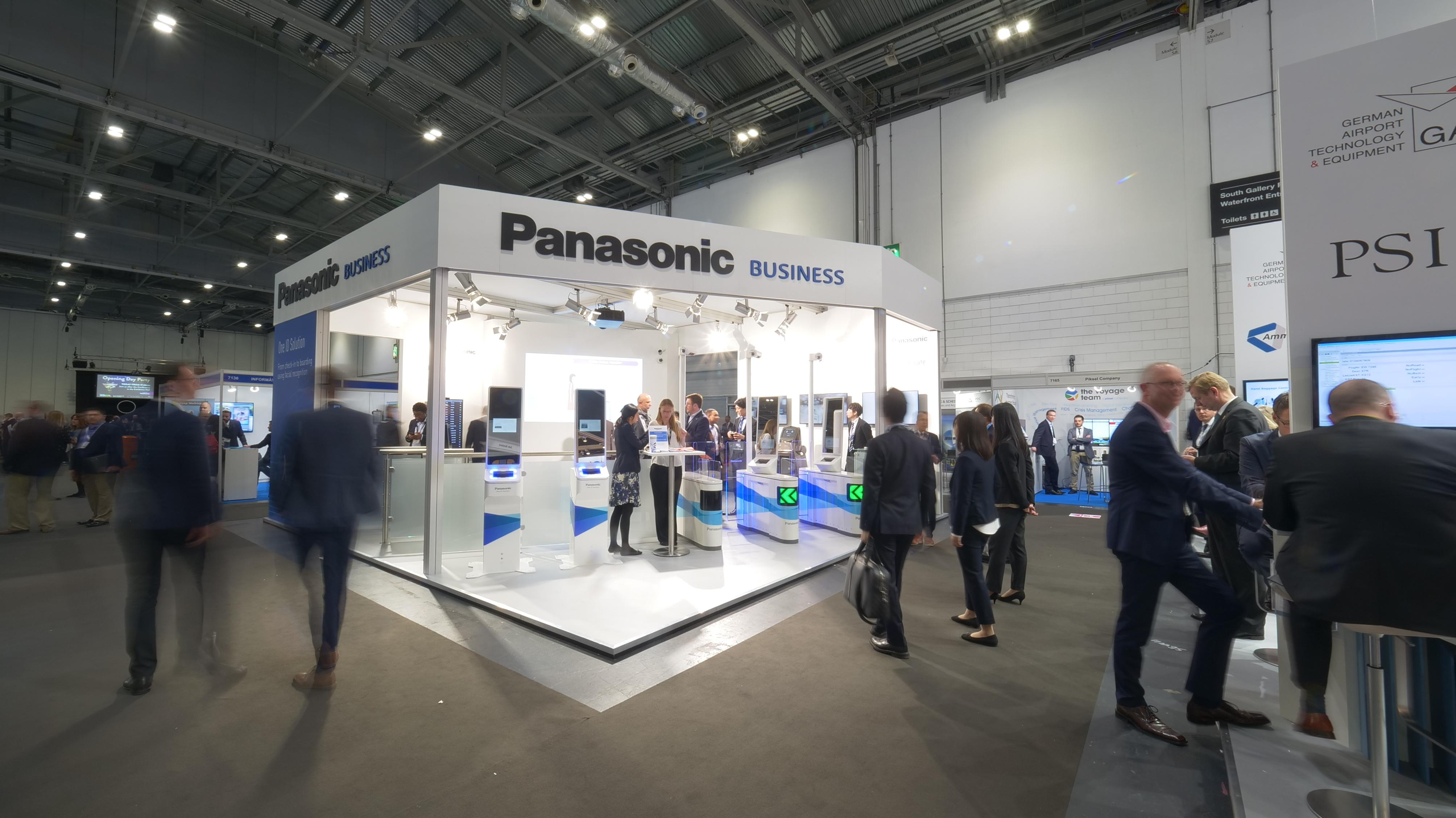 photo: the Panasonic booth at the passenger terminal expo 2019