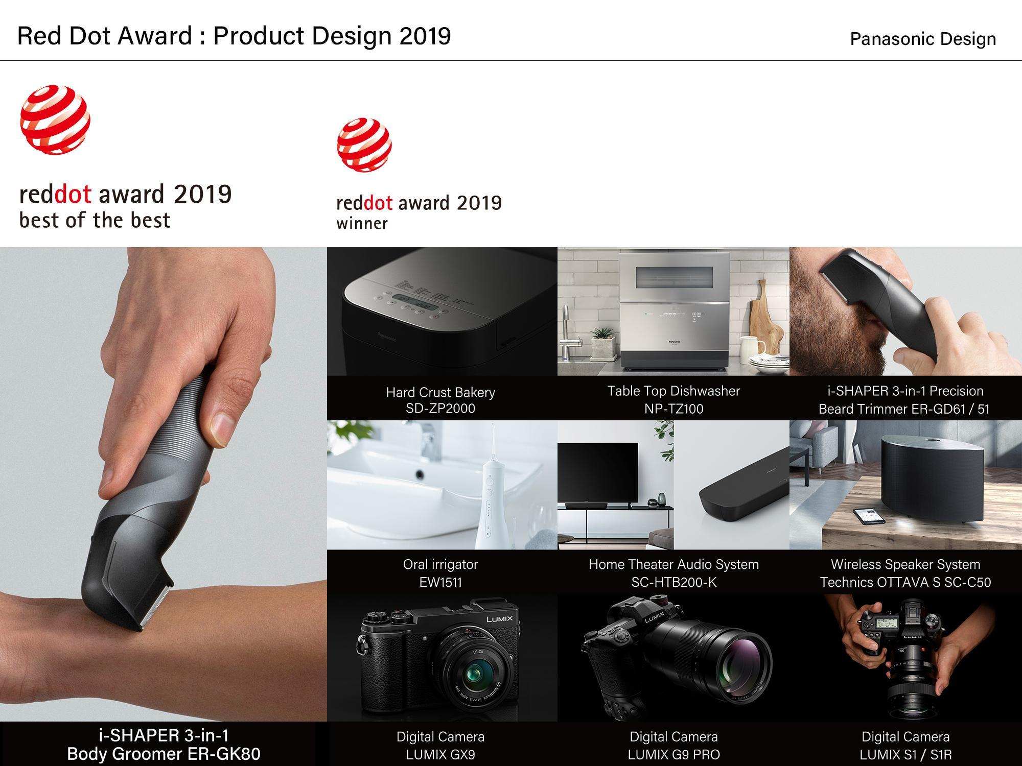 image: 10 Panasonic products that received the Red Dot Award 2019: Product Design