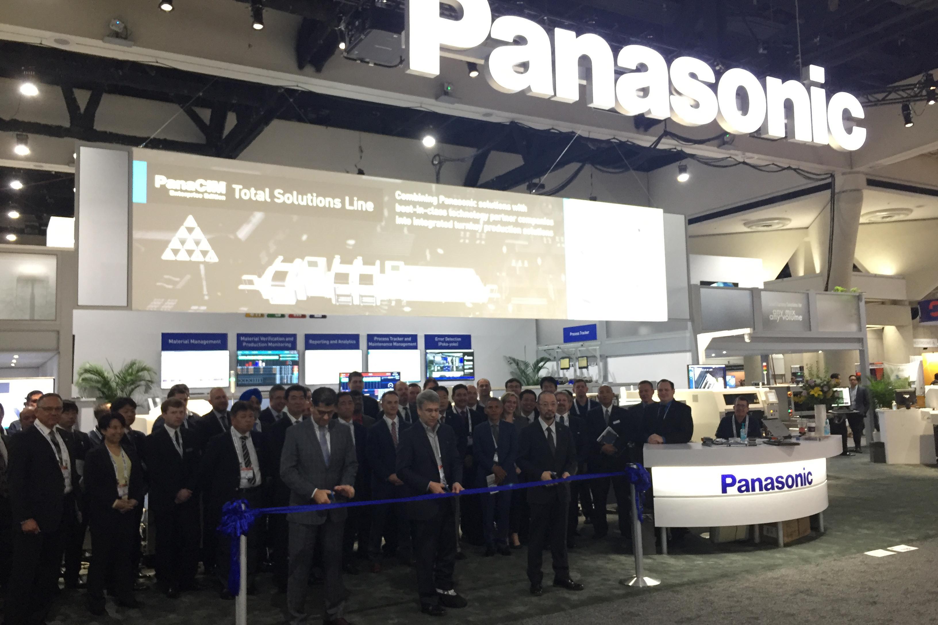 photo: Panasonic's ribbon-cutting ceremony at APEX 2018