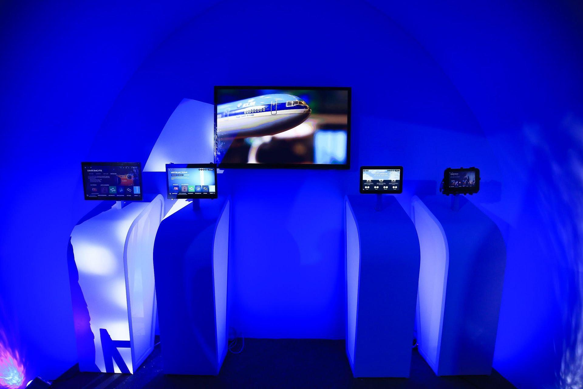 photo: avionics booth at panasonic future expo