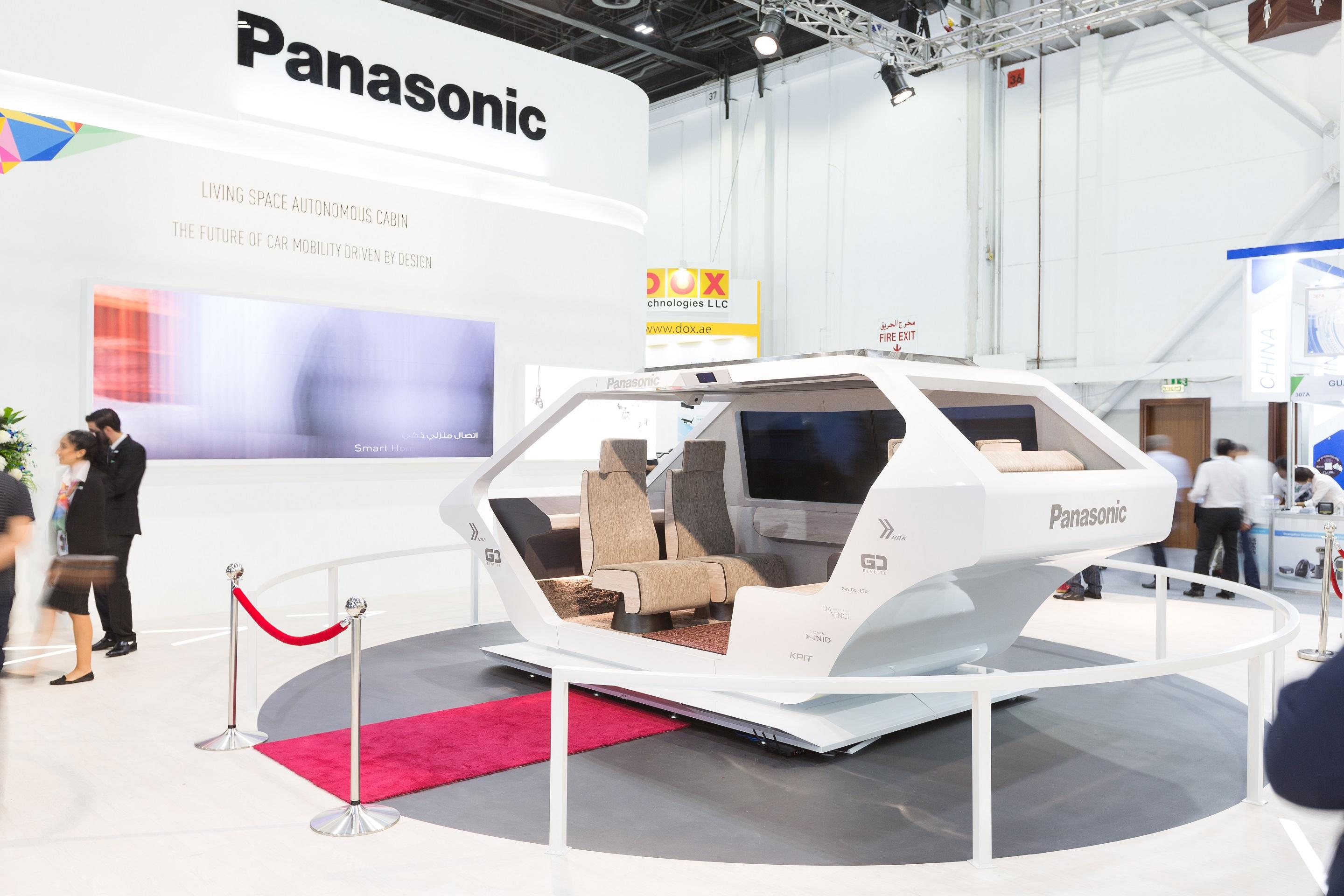 photo: Panasonic's Autonomous Living Space Cabin at GITEX 2018