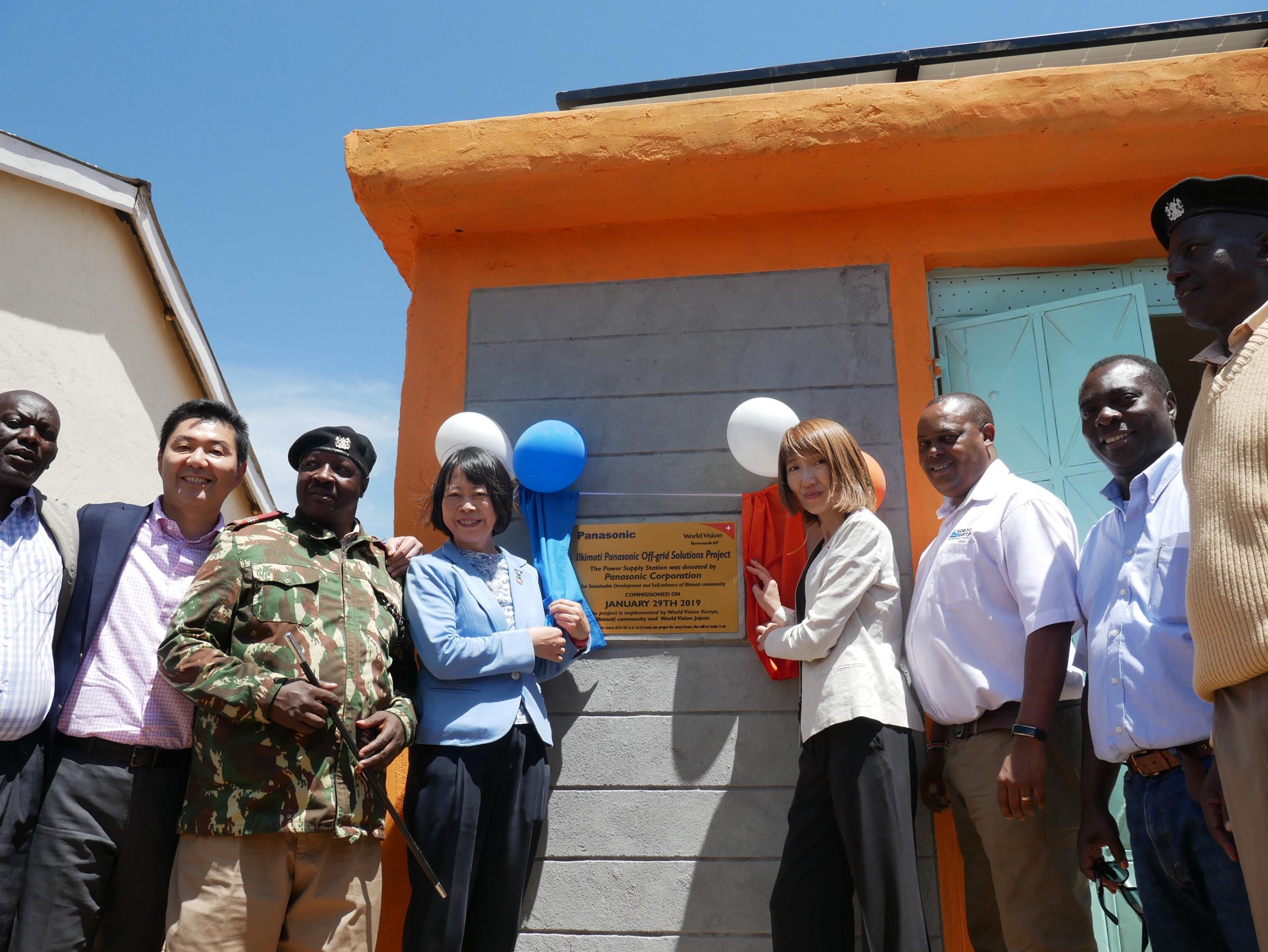 photo: the ceremony of Off-grid Solutions Project in Kenya