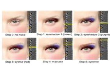 image: Eye makeup process