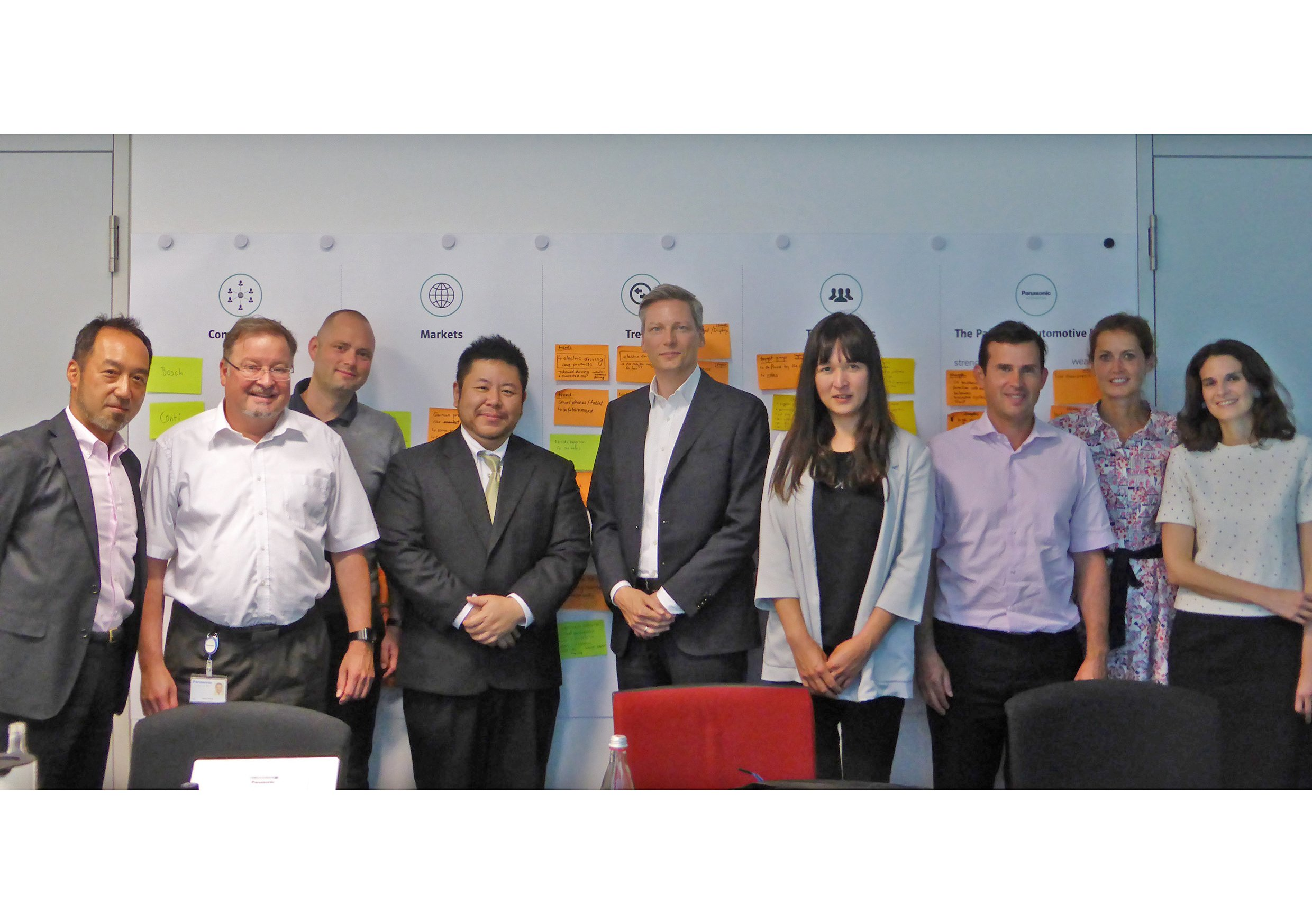 Photo: Panasonic Automotive Brand Design Project Team Members