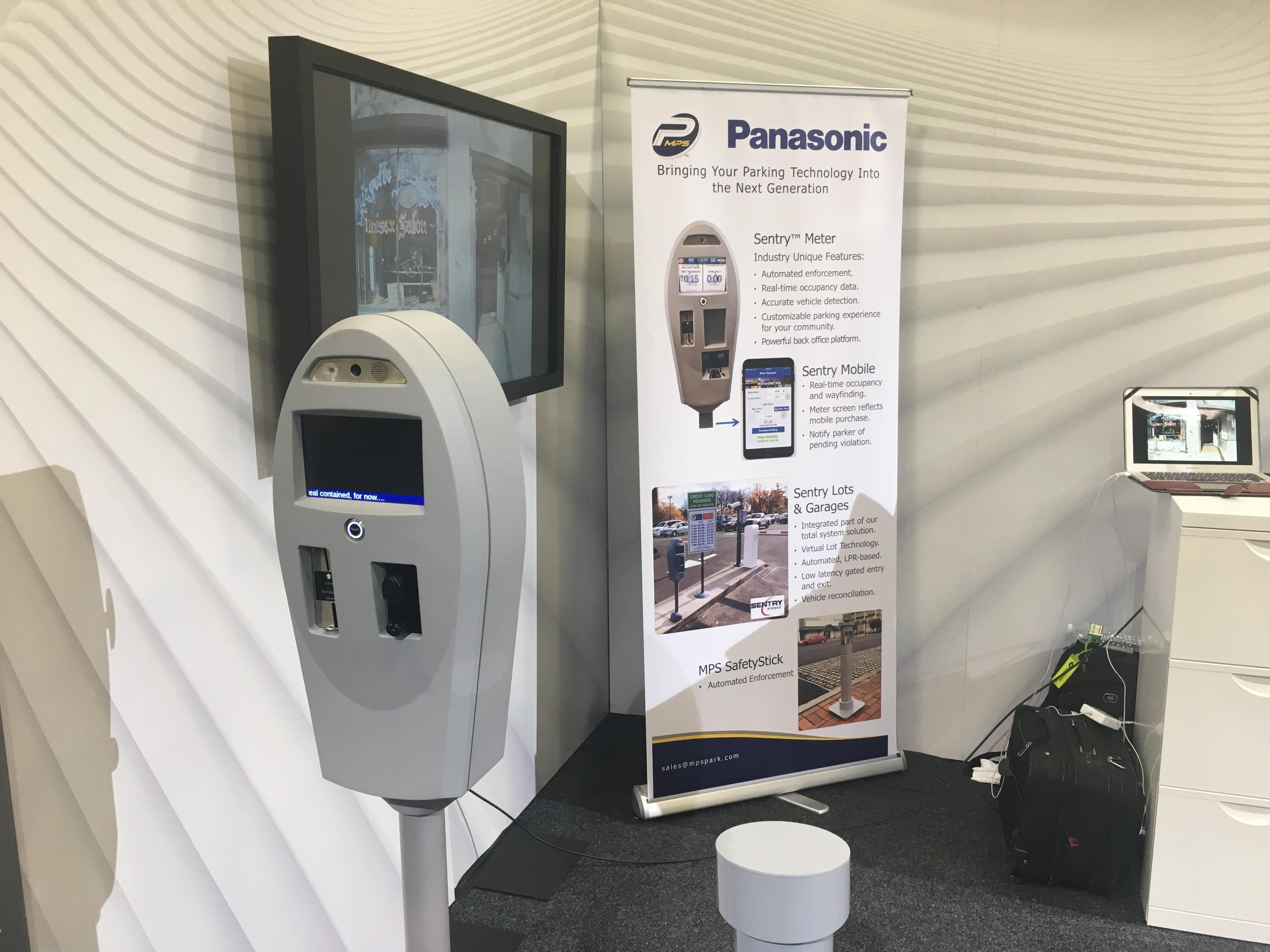 photo: Panasonic's Smart Parking Meter on display at Smart Cities New York of 2018