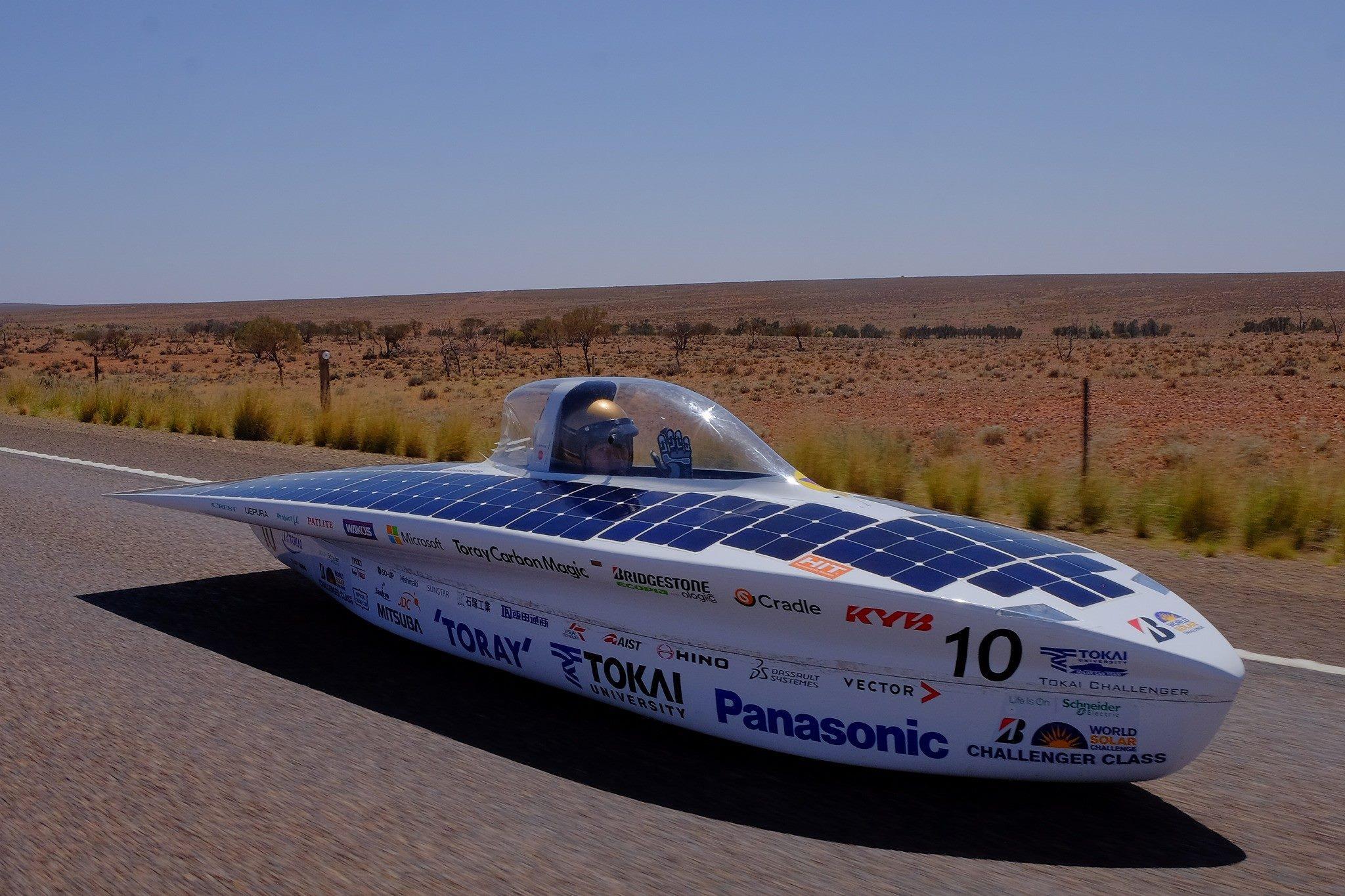 photo: The solar car using HIT