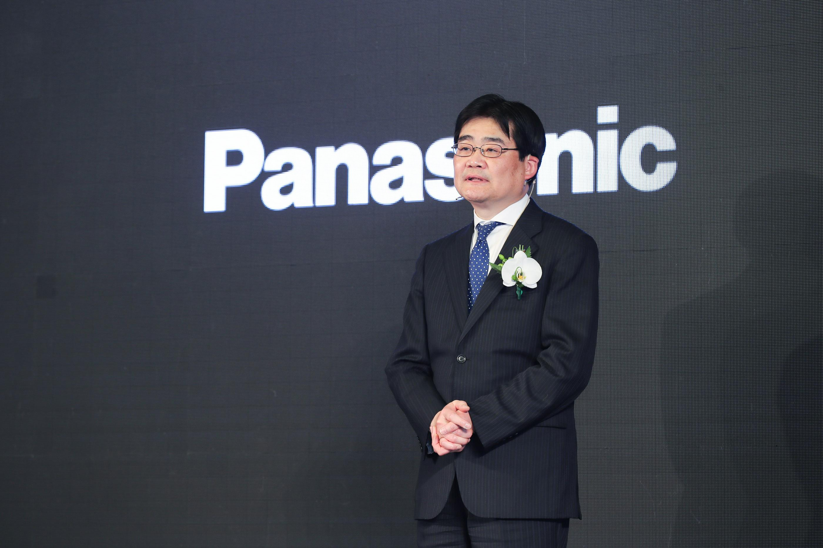 photo: Tetsuro Homma, Senior Managing Executive Officer of Panasonic Corporation and CEO of Appliances Company at the press conference at AWE 2019