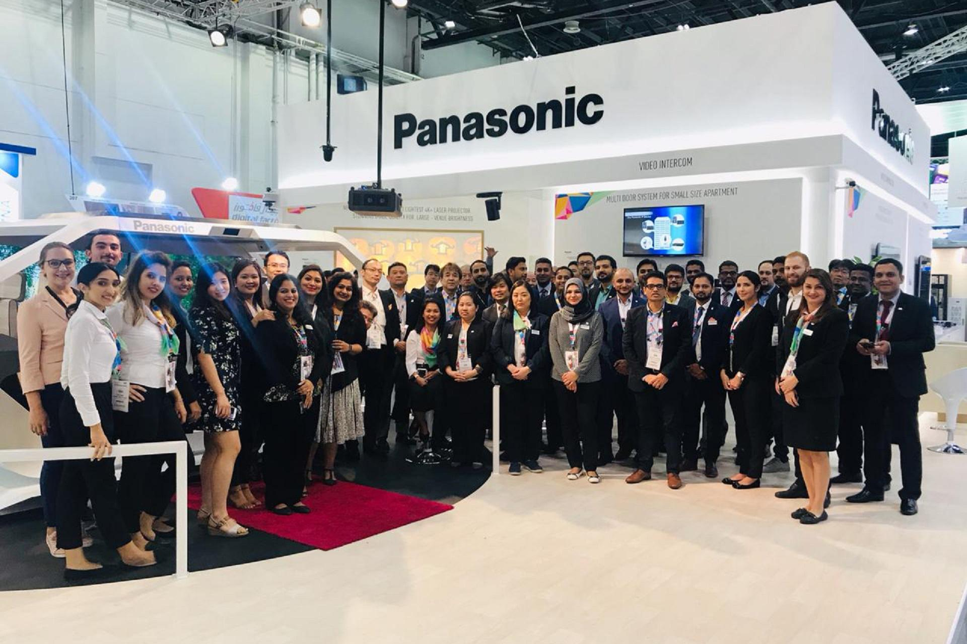 photo: Team Panasonic Middle East & Africa at GITEX 2018