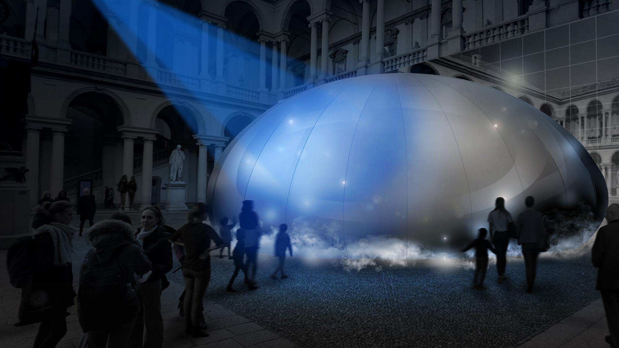 photo: panasonic's air inventions in Milan Design Week 2018