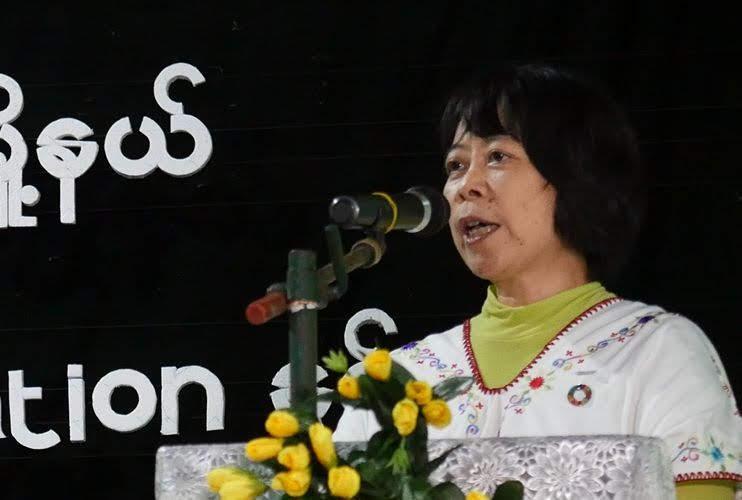 Photo of Ms Fukuda's speech