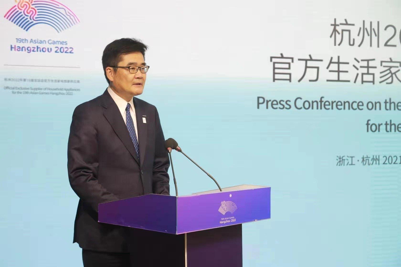 Photo: Homma Tetsuro, Representative Director of Panasonic Corporation and Chairman of Panasonic Corporation of China