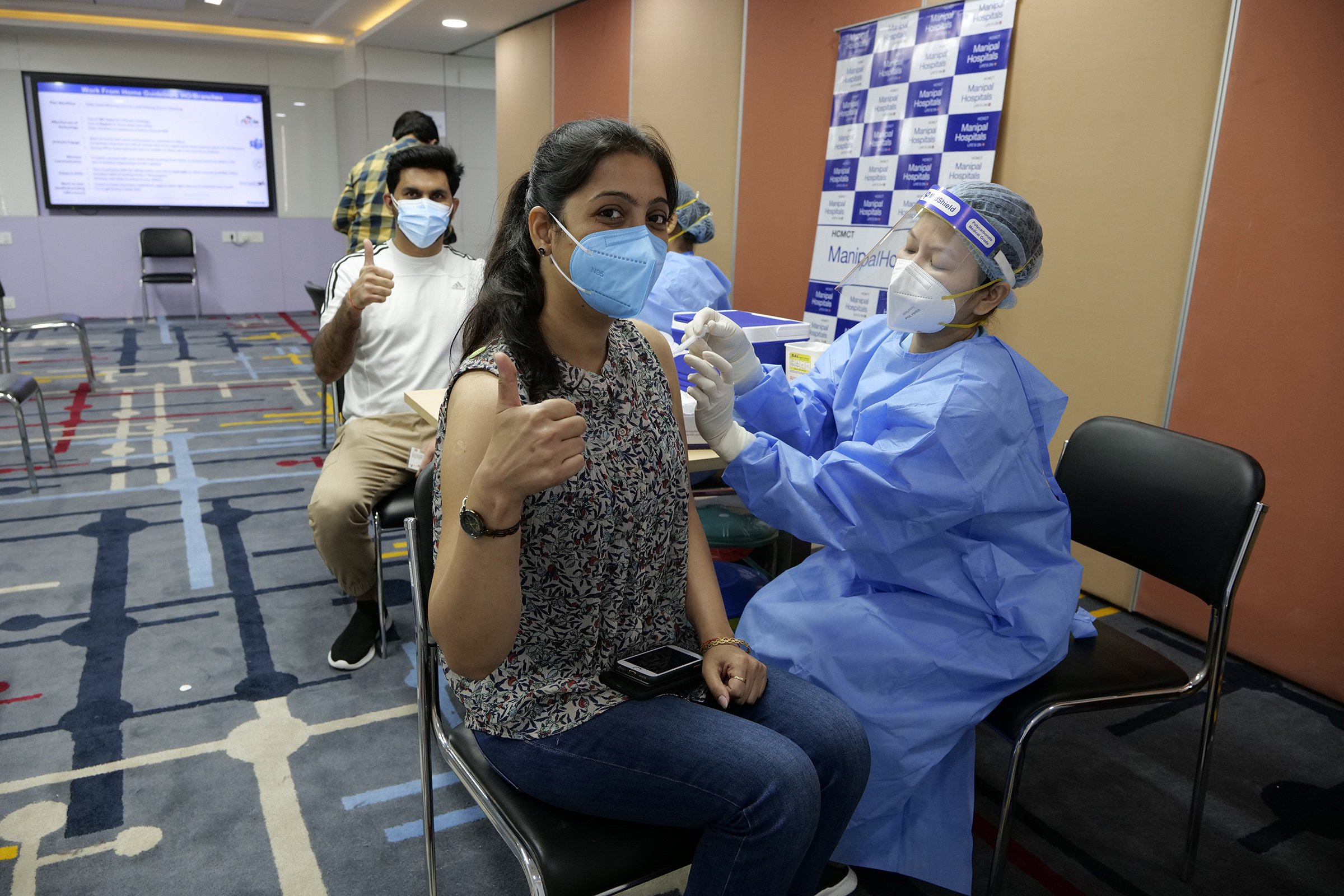 Photo: Panasonic India employees being vaccinated