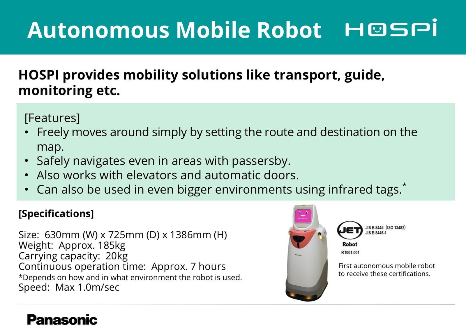 photo: Autonomous Mobile Robot HOSPI