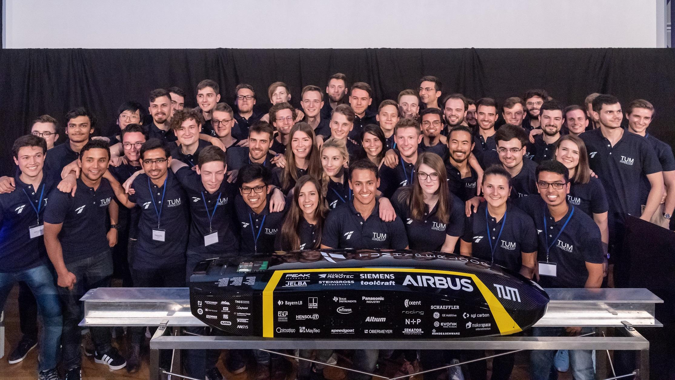 photo: Students of the TUM Hyperloop project