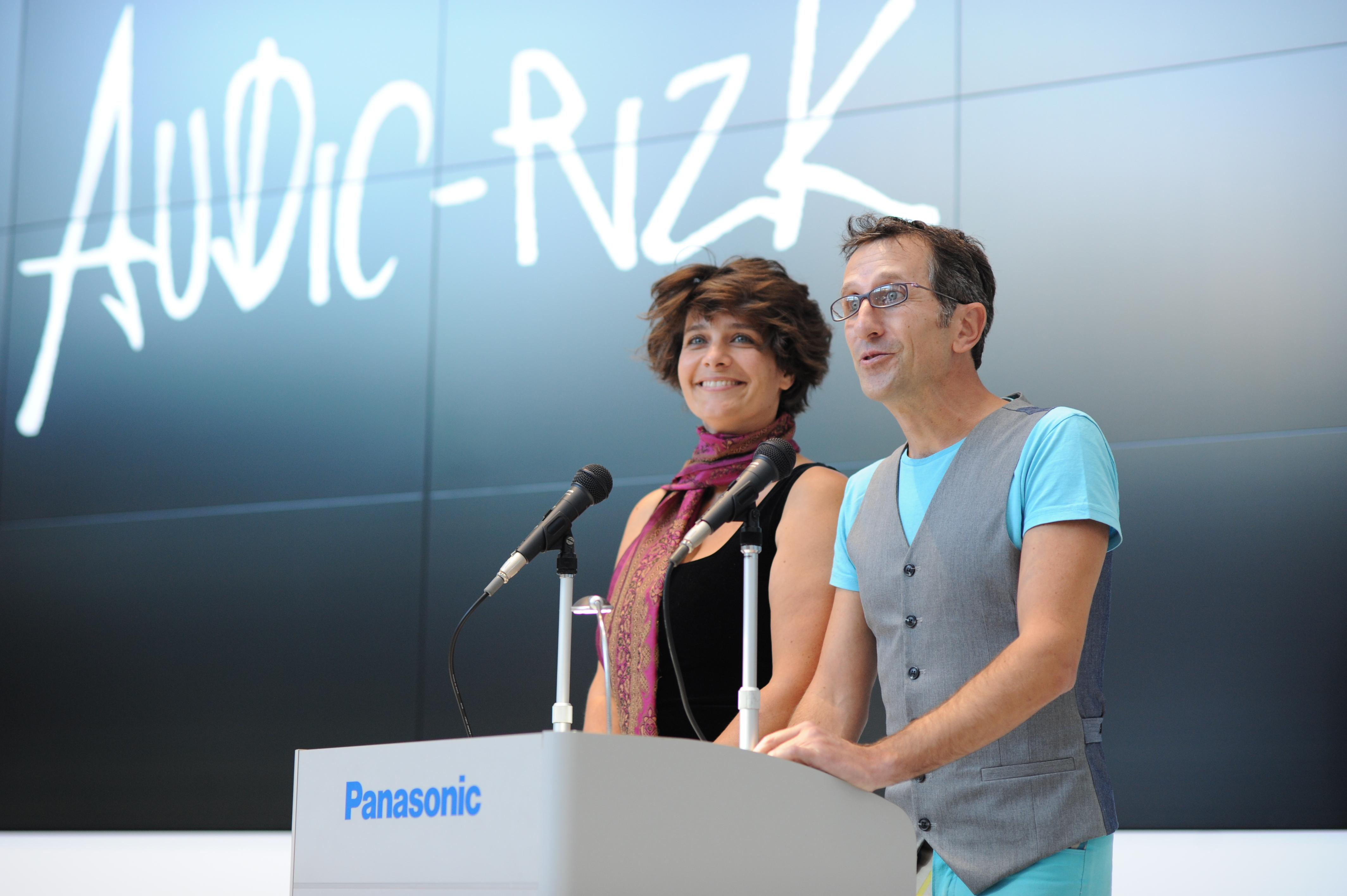 photo: the French artist duo Audic-Rizk