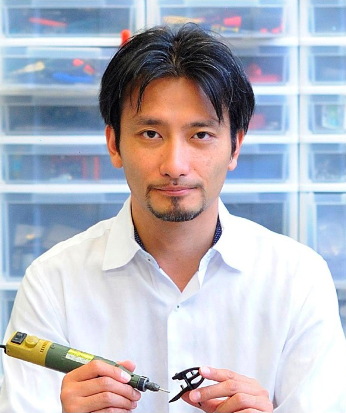 Photo of Mr. Tomotaka Takahashi, Robot Creator