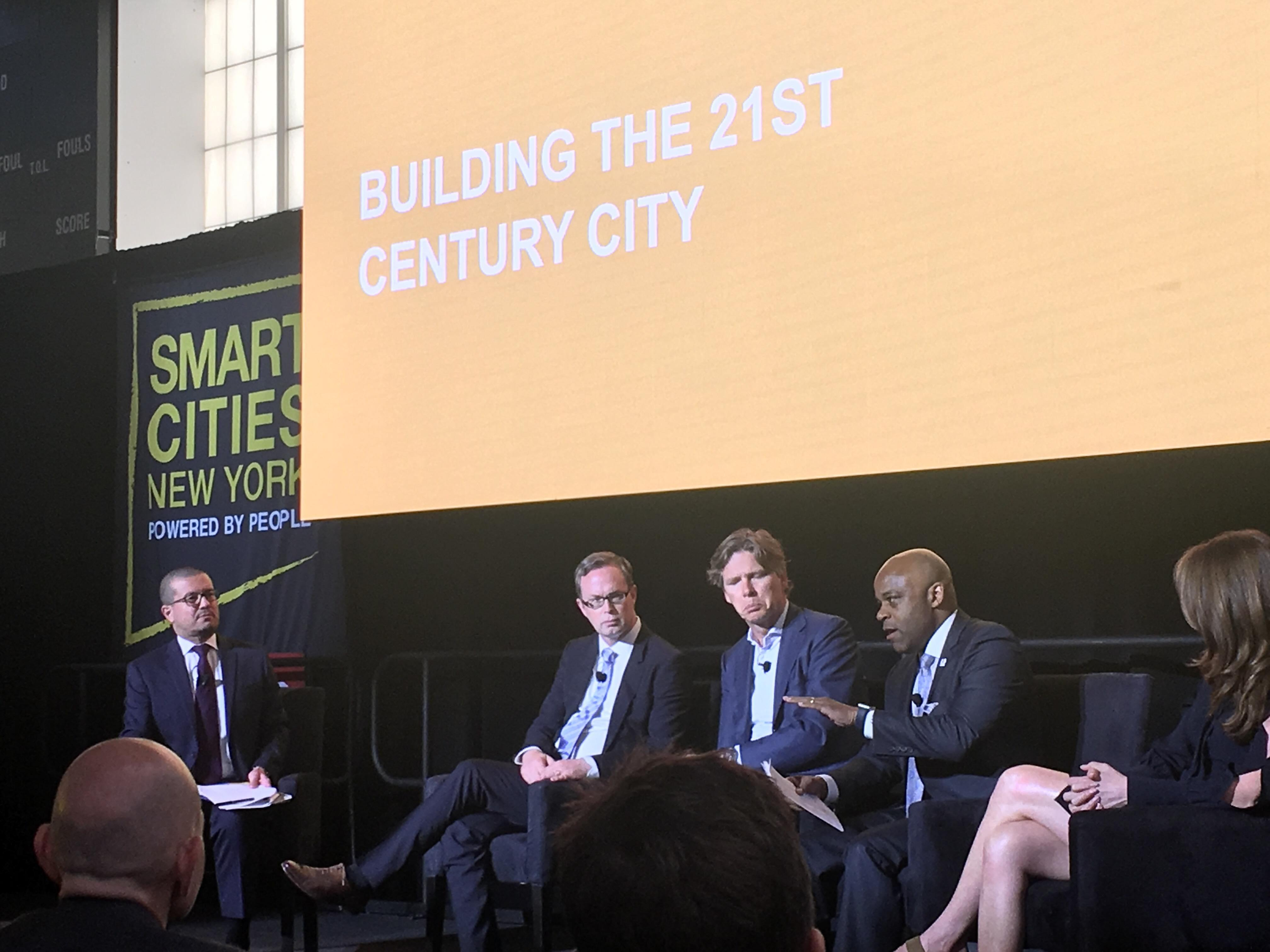 photo: Panel Discussion at Smart Cities New York of 2018