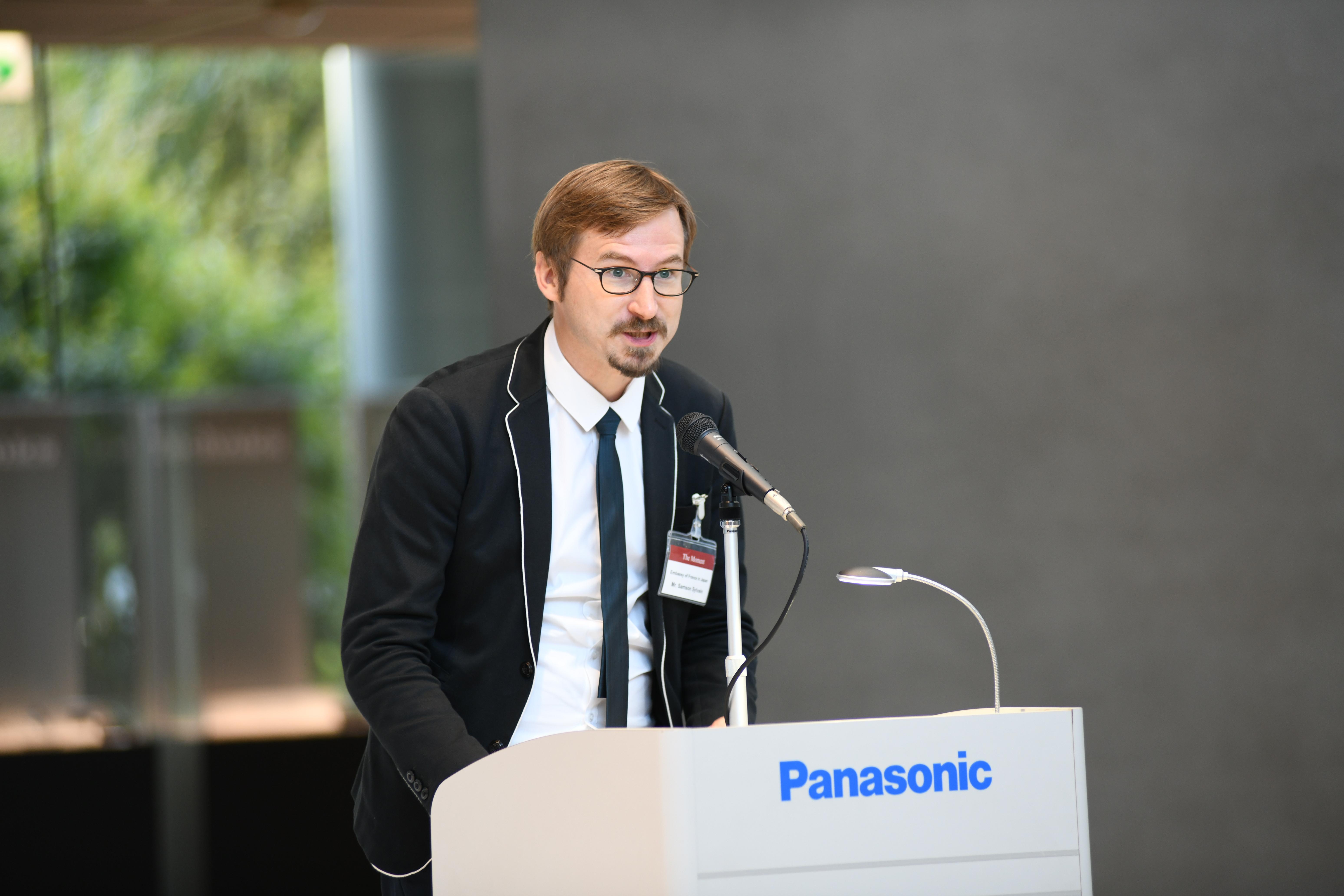 photo: Mr. Samson Sylvain, Cultural Attache, Embassy of France in Japan