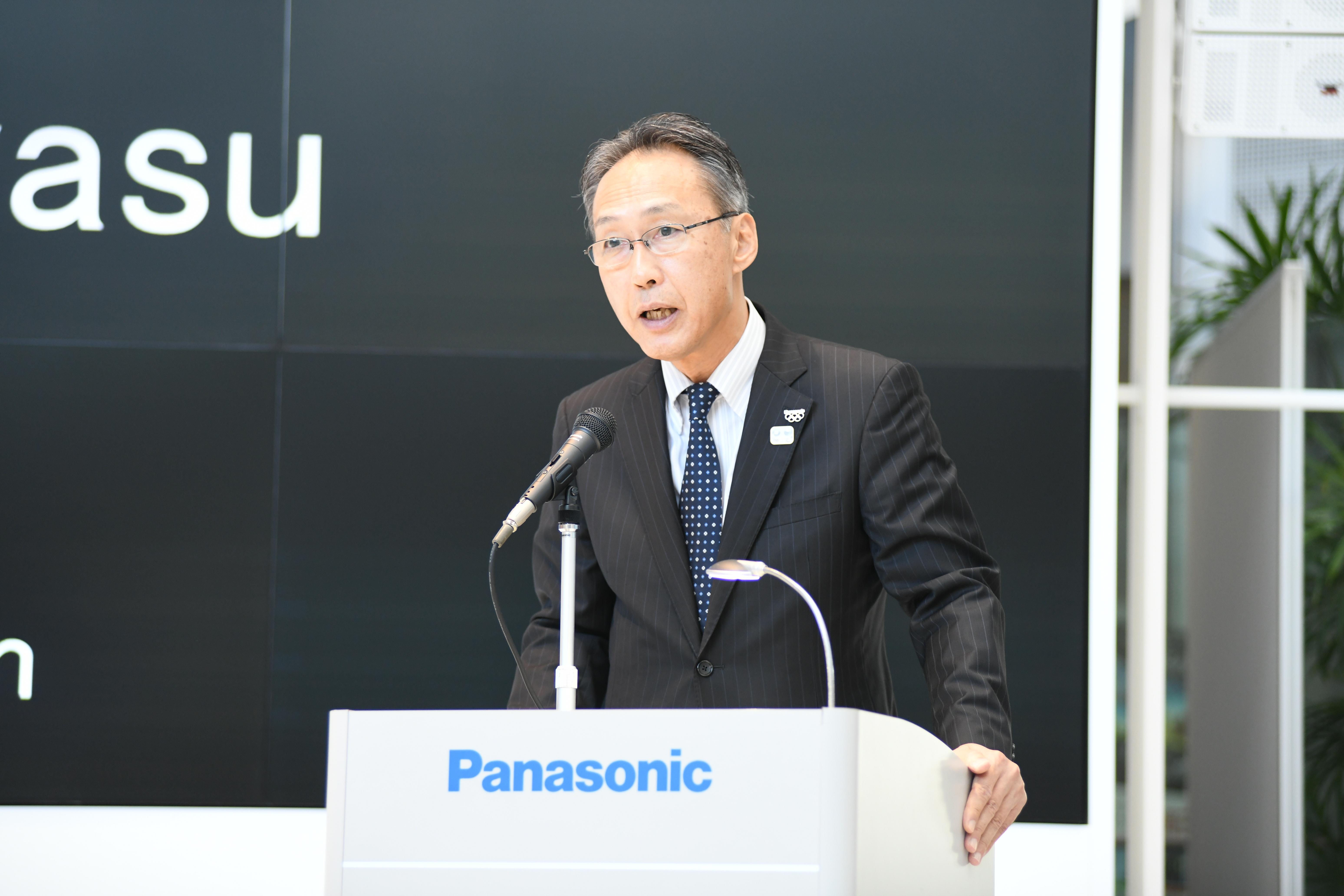 photo: Mr. Satoshi Takeyasu, Executive Officer of Panasonic Cprporation