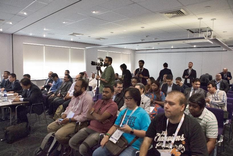 photo: media gathering