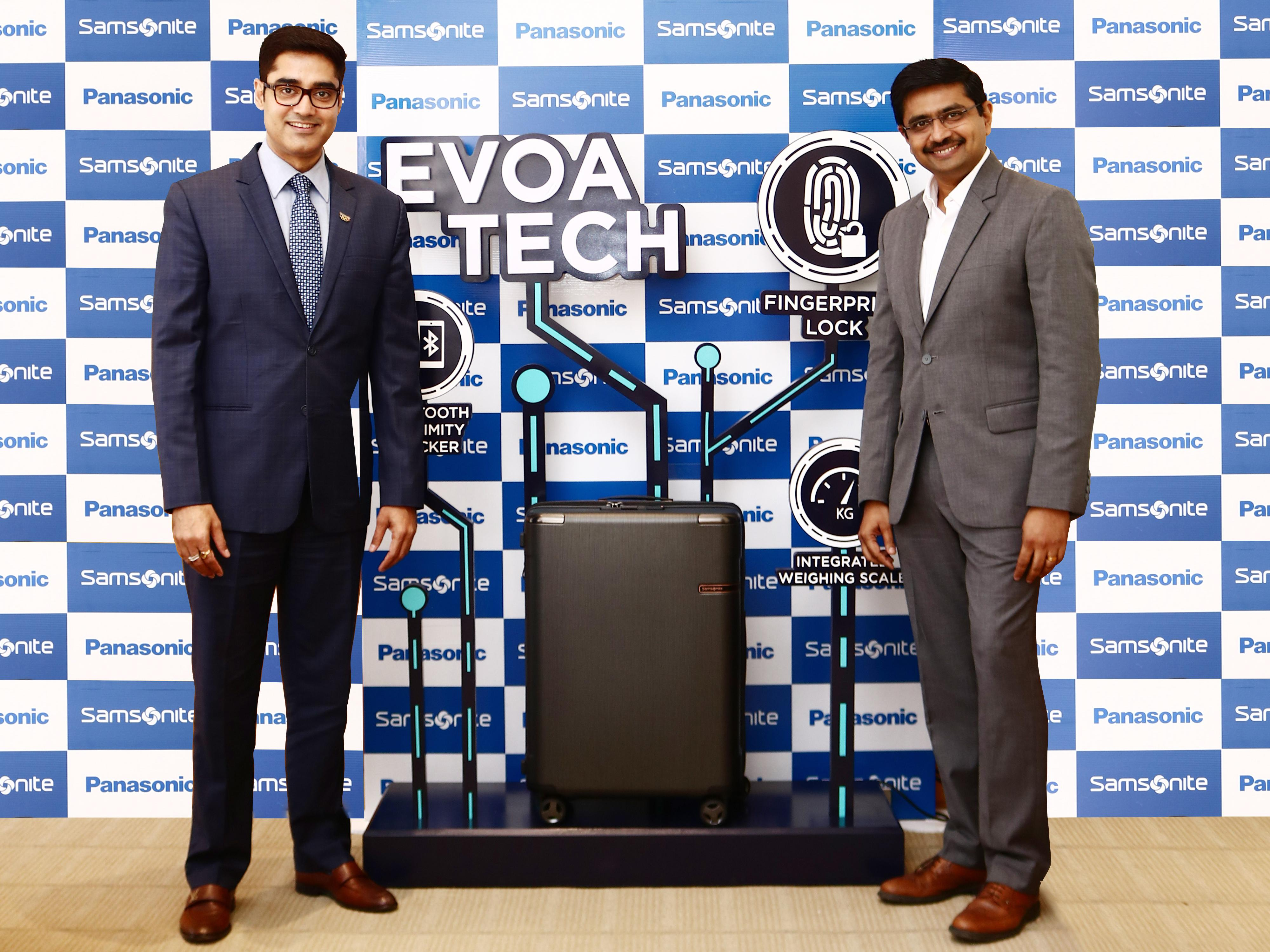 photo: (From left to right) Mr. Manish Sharma, President and CEO, Panasonic India and South Asia, Mr. Jai Krishnan, CEO, Samsonite South Asia