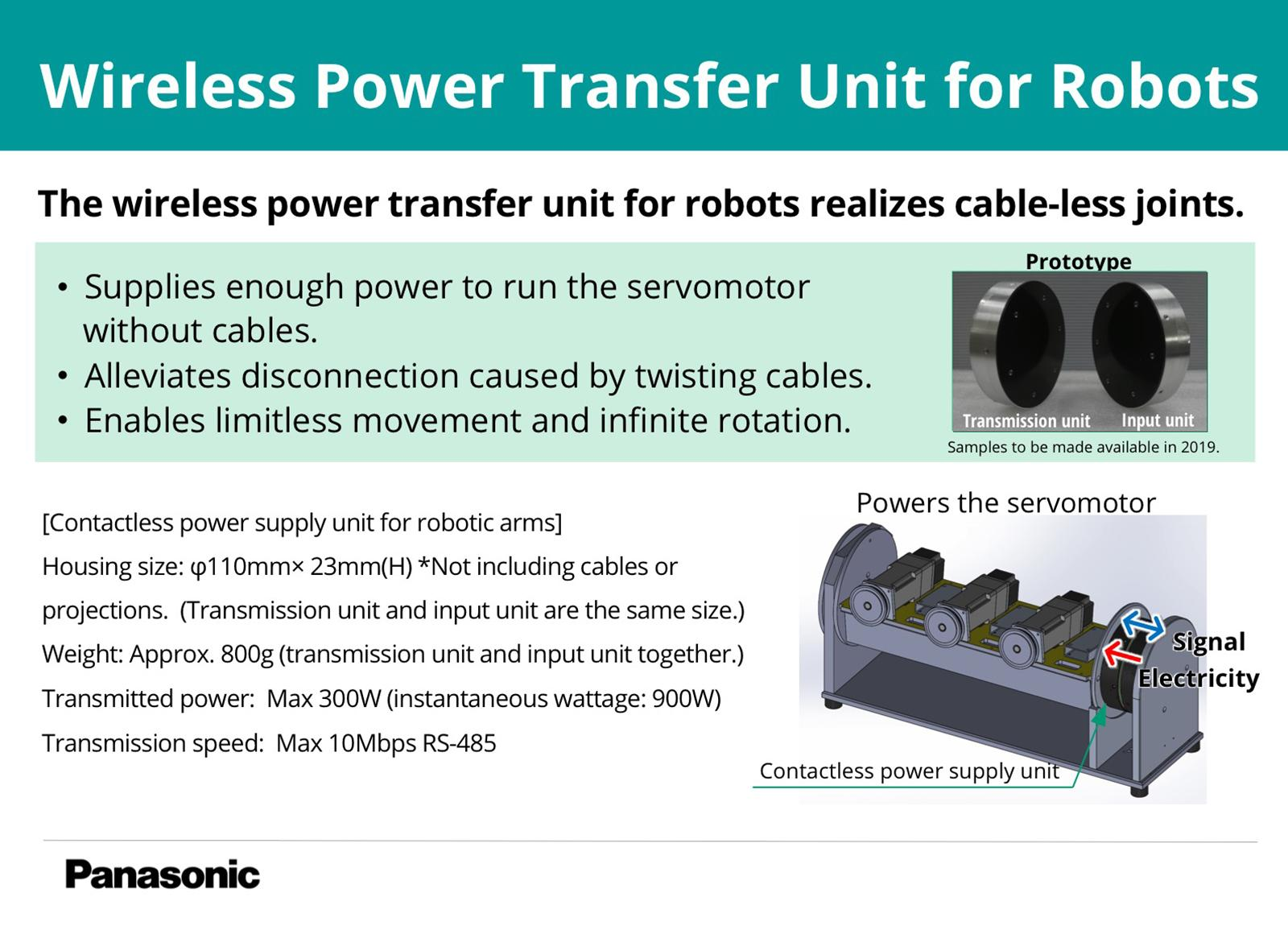 photo: Wireless Power Transfer Unit for Robots