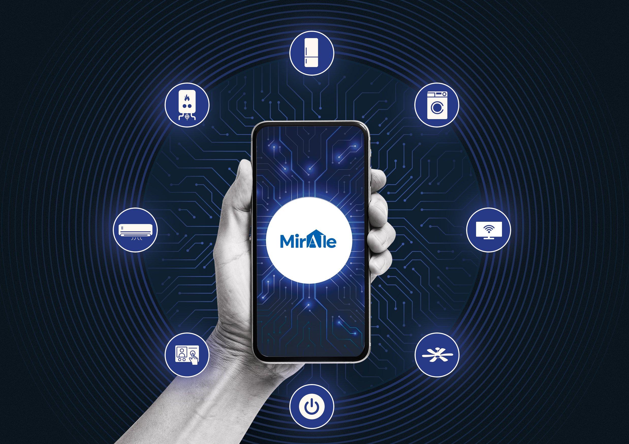 Photo: The Miraie app