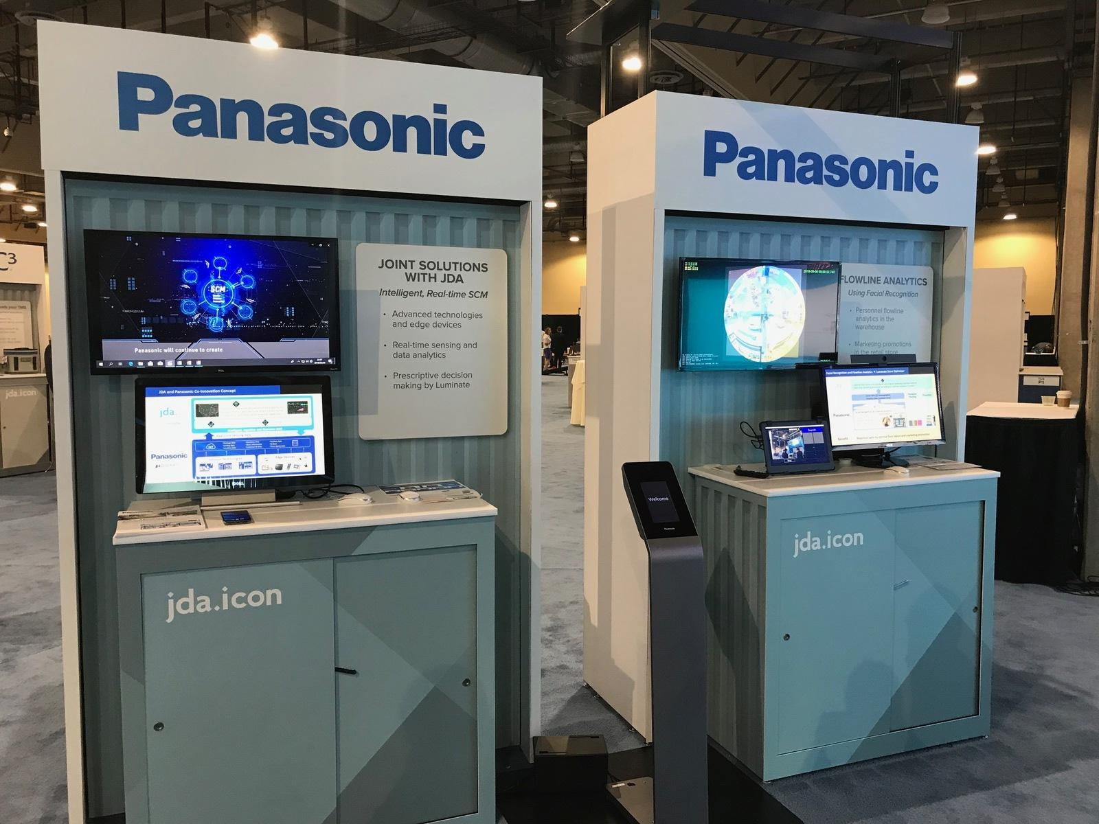 photo: At JDA ICON, Panasonic demonstrates its range of solutions for supply chain management within the Innovation Zone exhibition space.