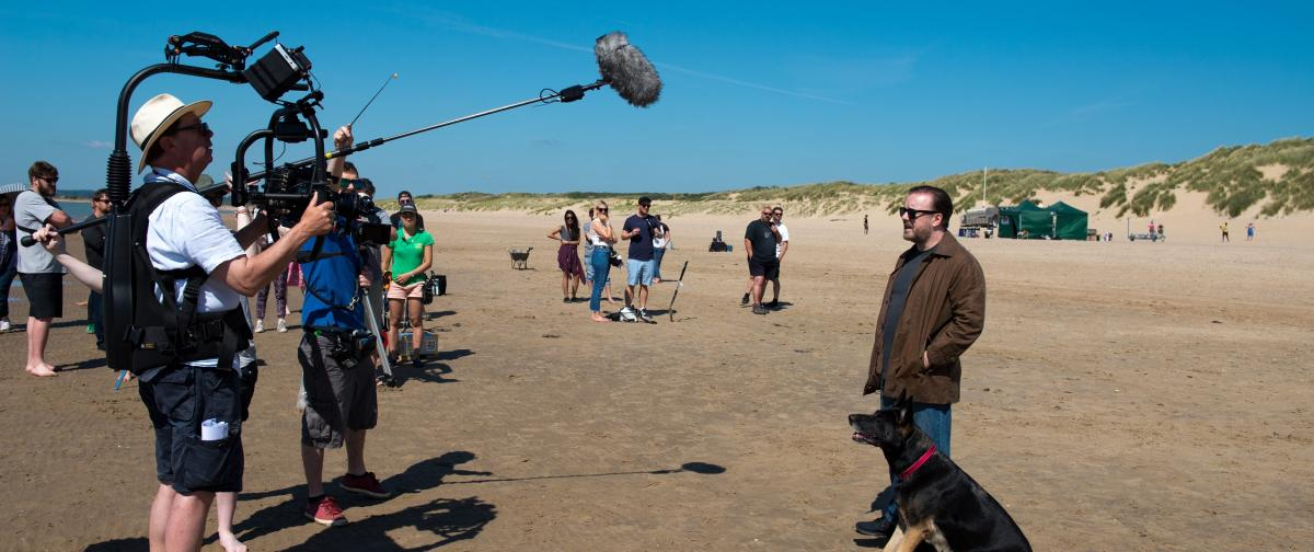 photo: Filming a Netflix original series directed by Ricky Gervais, 'After Life,' with the Panasonic VariCam series