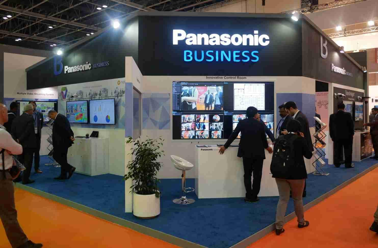 Exhibition A Booth : Panasonic at intersec the largest security trade