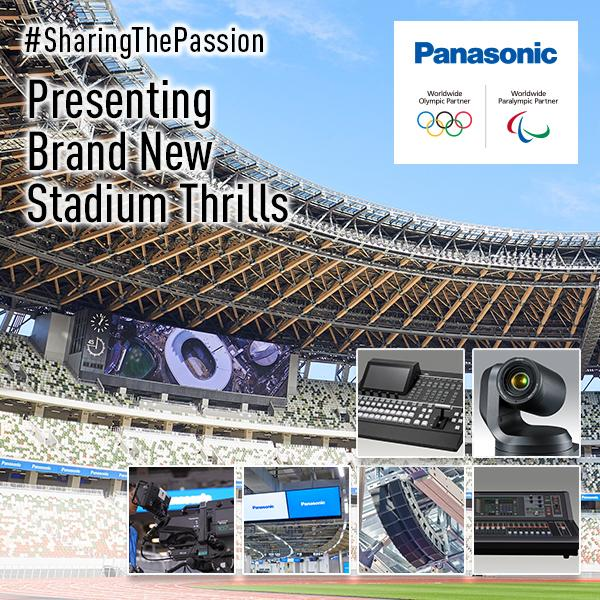 Panasonic's Various Solutions at the National Stadium in Tokyo, Japan