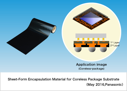 "Panasonic Commercializes ""Sheet-Form Encapsulation Material for Coreless Package Substrates"""