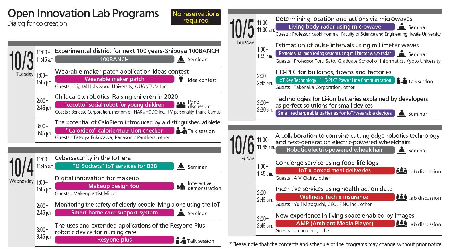 Programs in English